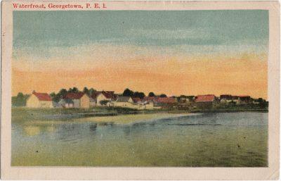 , Waterfront, Georgetown, P.E.I. (2192), PEI Postcards