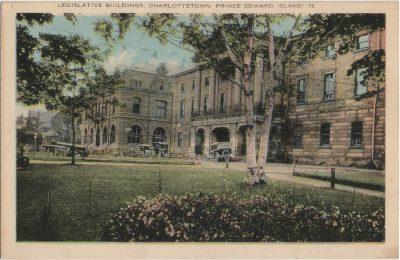 , Legislative Buildings, Charlottetown, Prince Edward Island. (2187), PEI Postcards