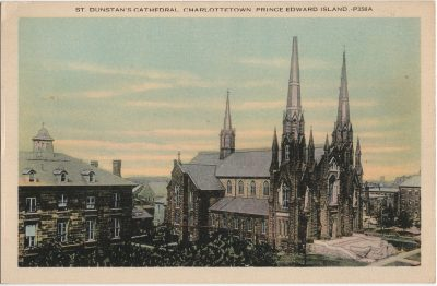 , St. Dunstan's Cathedral, Charlottetown, Prince Edward Island. (2188), PEI Postcards