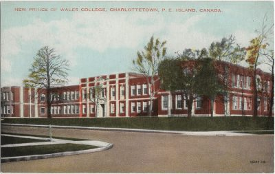 , New Prince of Wales College, Charlottetown, P.E. Island, Canada. (2190), PEI Postcards
