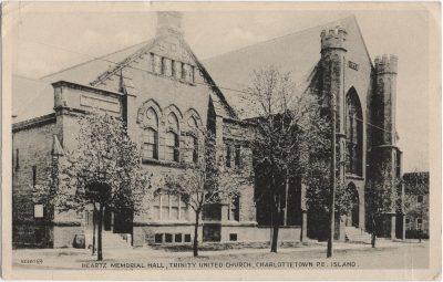 , Heartz Memorial Hall, Trinity United Church, Charlottetown, P.E. Island. (2180), PEI Postcards