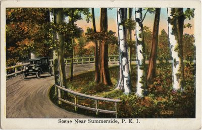 , Scene near Summerside (2181), PEI Postcards