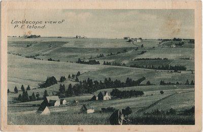 , Landscape view of P.E. Island. (2173), PEI Postcards
