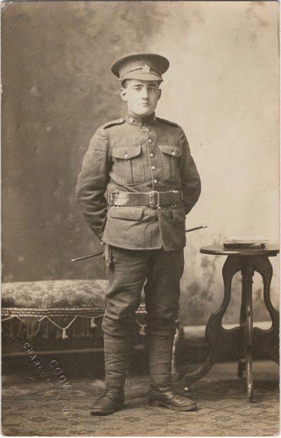 , {photo of WW I soldier} (2252), PEI Postcards