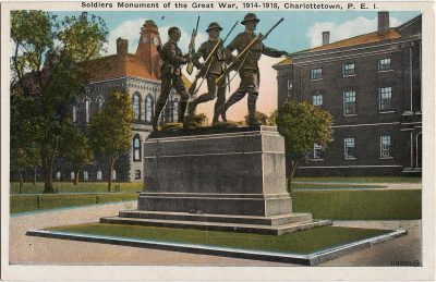, Soldiers Monument of the Great War, 1914-1918, Charlottetown, P.E.I. (2168), PEI Postcards