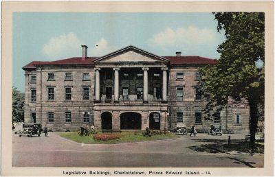 , Legislativ Buildings, Charlottetown, Prince Edward Island. (2169), PEI Postcards