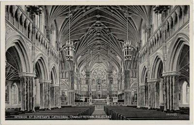 , Interior, St. Dunstan's Cathedral, Charlottetown, P.E. Island (2166), PEI Postcards
