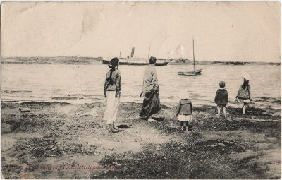 , Boston Boat entering Charlottetown Harbor, P.E.I. (2254), PEI Postcards