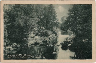 , Thompson's Mill Stream near Charlottetown, P.E. Island. (2151), PEI Postcards