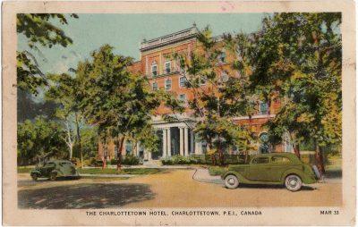 , The Charlottetown Hotel, Charlottetown, P.E.I. Canada (2150), PEI Postcards