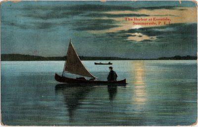 , The Harbor at Eventide, Summerside, P.E.I. (2250), PEI Postcards