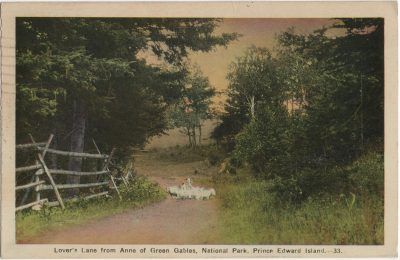 , Lover's Lane from Anne of Green Gables, National Park, Prince Edward Island. (2261), PEI Postcards