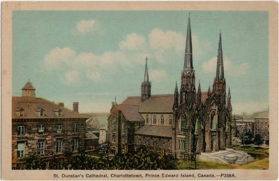 , St. Dunstan's Cathedral, Charlottetown, Prince Edward Island, Canada. (2245), PEI Postcards