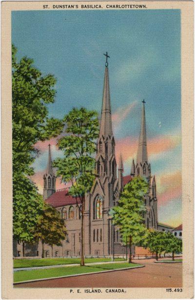 , St. Dunstan's Basilica. Charlottetown. P.E. Island, Canada. (2235), PEI Postcards