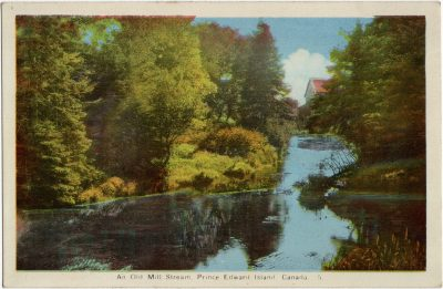 , An Old Mill Stream, Prince Edward Island, Canada. {Thompson's Mills} (2232), PEI Postcards