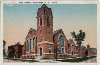 , Zion Church, Charlottetown, P.E. Island. (2226), PEI Postcards