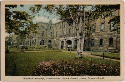 , Legislative Buildings, Charlottetown, Prince Edward Island, Canada. (2213), PEI Postcards