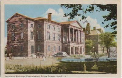 , Legislative Buildings, Charlottetown, Prince Edward Island. (2211), PEI Postcards