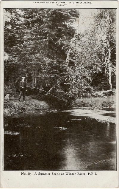 , A Summer Scene at Winter River, P.E.I. (2273), PEI Postcards