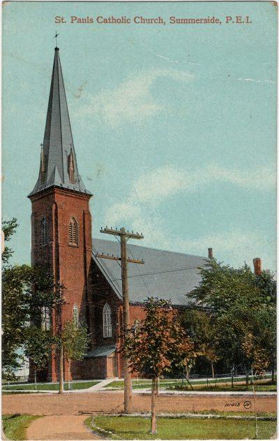 , St. Pauls Catholic Church, Summerside, P.E.I. (2268), PEI Postcards