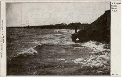 , A Rugged Shore Scene, P.E.I. (2272), PEI Postcards