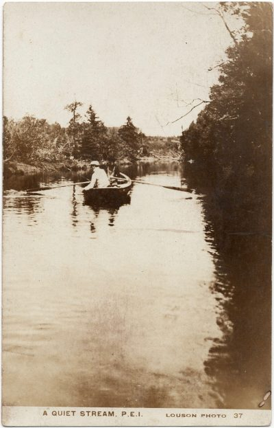, A quiet stream, P.E.I.  Louson Photo (2275), PEI Postcards