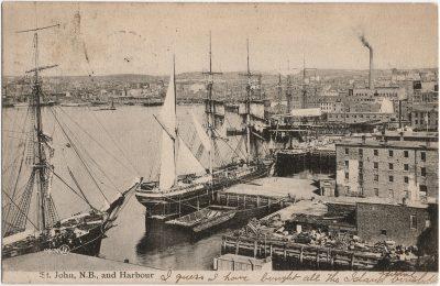 , St. John N.B. and Harbour. (2333), PEI Postcards