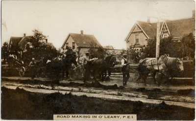 , Road Making in O'Leary, P.E.I. (2279), PEI Postcards