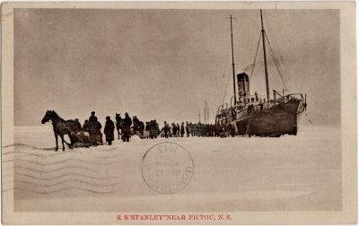 ", S.S. ""Stanley"" near Pictou, N.S. (2355), PEI Postcards"