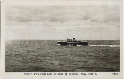 , Prince Nova from Wood Islands to Caribou, Nova Scotia (2350), PEI Postcards