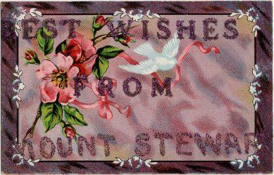 , Best Wishes from Mount Stewart (2348), PEI Postcards