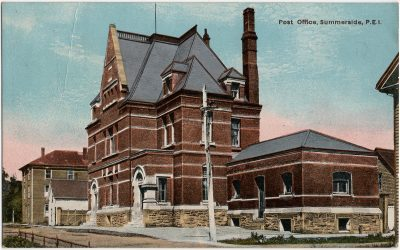 , Post Office, Summerside, P.E.I. (2344), PEI Postcards