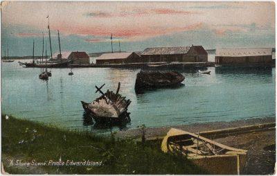 , A Shore Scene. Prince Edward Island. (2343), PEI Postcards