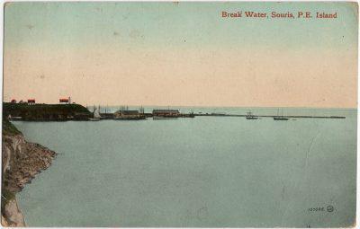 , Break Water, Souris, P.E. Island (2340), PEI Postcards