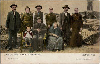 , Pioneer Family, Five Generations, Tignish, P.E.I. (2287), PEI Postcards