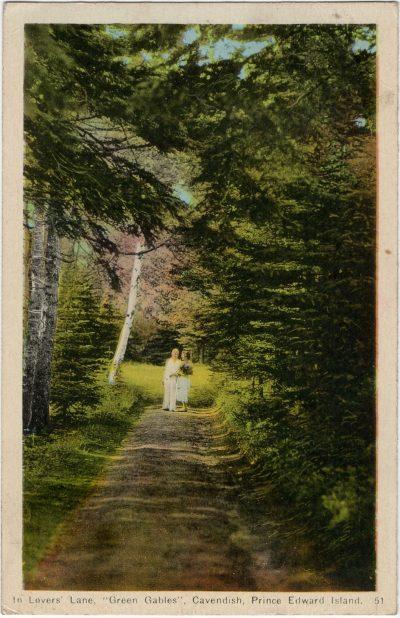 ", In Lover's Lane, ""Green Gables"", Cavenish, Prince Edward Island. (2288), PEI Postcards"