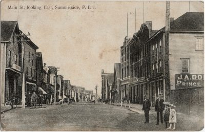 , Main St. looking East, Summerside, P.E.I. (2290), PEI Postcards