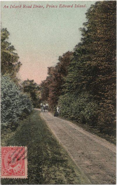 , An Island Road Drive, Prince Edward Island. (2291), PEI Postcards