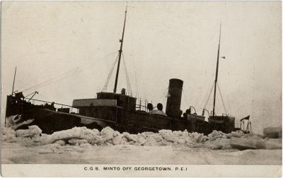 , C.G.S. Minto off Georgetown, P.E.I. (2295), PEI Postcards