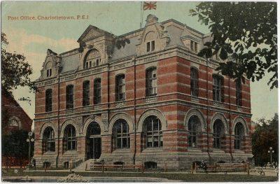 , Post Office, Charlottetown, P.E.I. (2305), PEI Postcards
