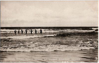 , Bathing Scene, North Shore of Prince Edward Island (2306), PEI Postcards