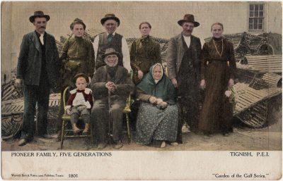 , Pioneer Family, Five Generations, Tignish, P.E.I. (2311), PEI Postcards