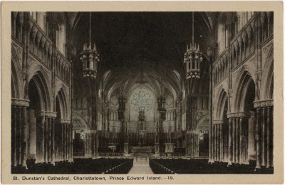 , St. Dunstan's Cathedral, Charlottetown, Prince Edward Island. (2312), PEI Postcards