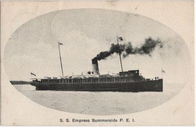 , S.S. Empress Summerside P.E.I. (2313), PEI Postcards