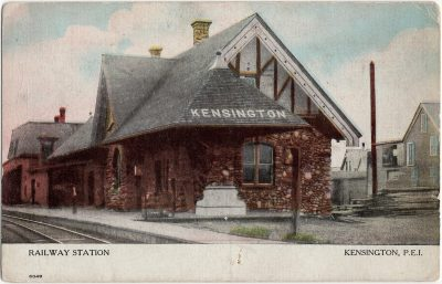 , Railway Station Kensington, P.E.I. (2315), PEI Postcards