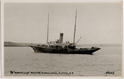 ", S/S ""Hochelaga"" passing Pictou Lodge, Pictou, N.S. (2317), PEI Postcards"