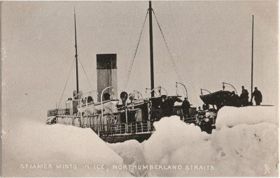 , Steamer Minto in Ice, Northumberland Strait (2316), PEI Postcards