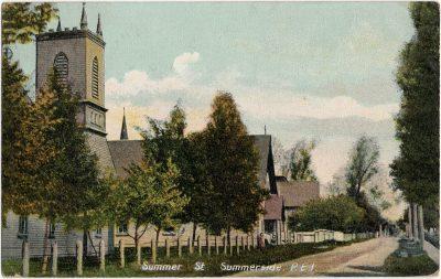 , Summer St. Summerside, P.E.I. (2318), PEI Postcards