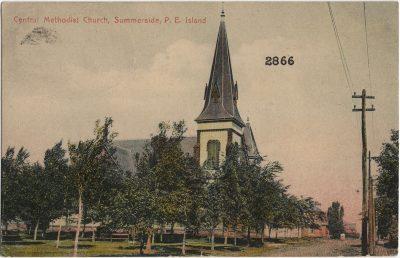 , Central Methodist Church, Summerside, P.E. Island (2321), PEI Postcards
