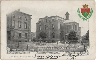 , Post Office, Charlottetown, P.E.I. (2325), PEI Postcards